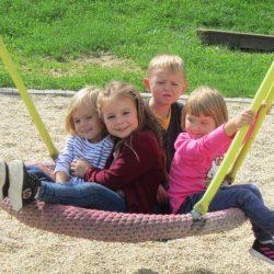 Jabing von oben: Der Kindergarten!