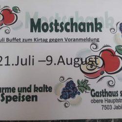 """Mostschank im Gh.""""s`Dörfl"""""""