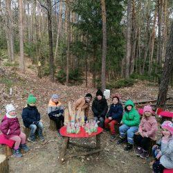 Besuch im Osterhasenwald