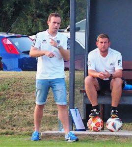 Trainer Marc Seper mit Co Bernd Balogh